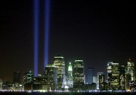 world trade center lights